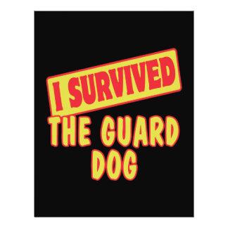 I SURVIVED THE GUARD DOG 21.5 CM X 28 CM FLYER