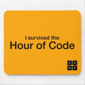 I Survived the Hour of Code Mouse Pad