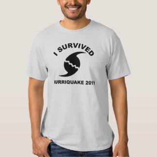 I survived the hurriquake t-shirts