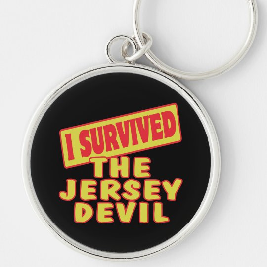 I SURVIVED THE JERSEY DEVIL Silver-Colored ROUND KEY RING
