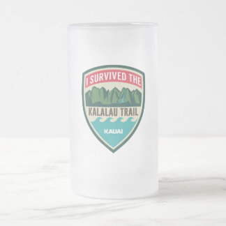 """I Survived the Kalalau Trail"" Frosted Mug"