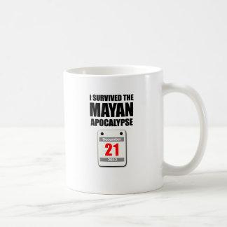 I Survived The Mayan Apocalypse 2012 (calendar) Coffee Mug