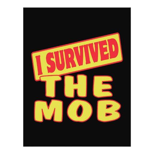 I SURVIVED THE MOB CUSTOM FLYER