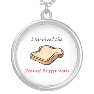 I survived the Peanut Butter Wars Round Pendant Necklace