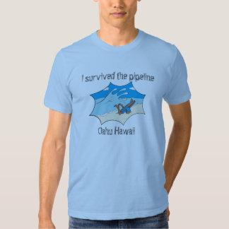I Survived the Pipeline Oahu Hawaii Tee Shirts