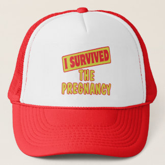 I SURVIVED THE PREGNANCY TRUCKER HAT