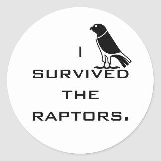 I survived the raptors round sticker