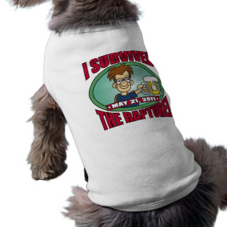 I Survived the Rapture 2011 Pet Tee Shirt