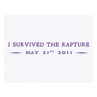 I Survived the Rapture Postcard