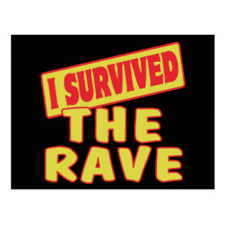 I SURVIVED THE RAVE POSTCARD