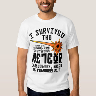 I Survived The Russian Meteor Tee Shirt