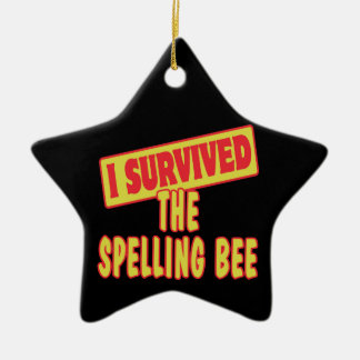 I SURVIVED THE SPELLING BEE CERAMIC STAR DECORATION