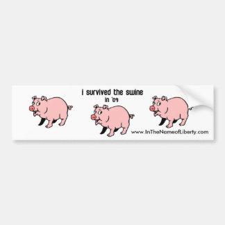 I Survived The Swine Bumper Sticker