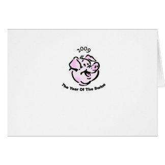 I Survived  The Swine Flu 2009 Greeting Card