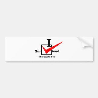 I Survived The Swine Flu Bumper Sticker