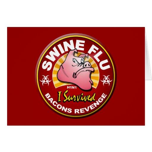 I Survived The Swine Flu - H1N1 Cards