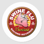 I Survived The Swine Flu - H1N1 Stickers