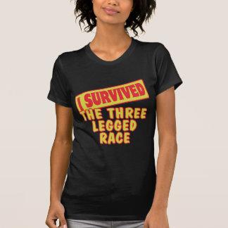 I SURVIVED THE THREE LEGGED RACE TEES