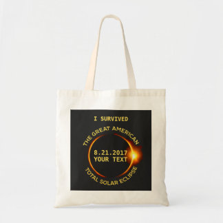 I Survived the Total Solar Eclipse 8.21.2017 Funny Tote Bag
