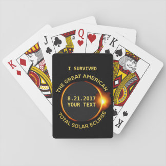 I Survived the Total Solar Eclipse 8.21.2017 USA Playing Cards