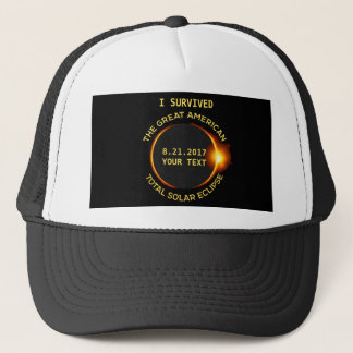 I Survived the Total Solar Eclipse 8.21.2017 USA Trucker Hat