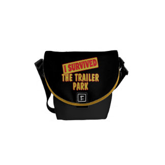 I SURVIVED THE TRAILER PARK COURIER BAGS