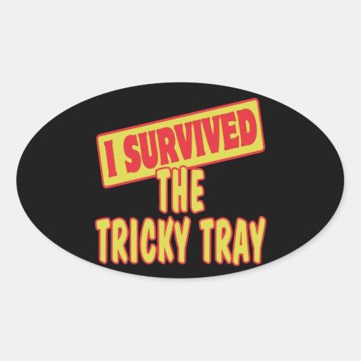 I SURVIVED THE TRICKY TRAY STICKER