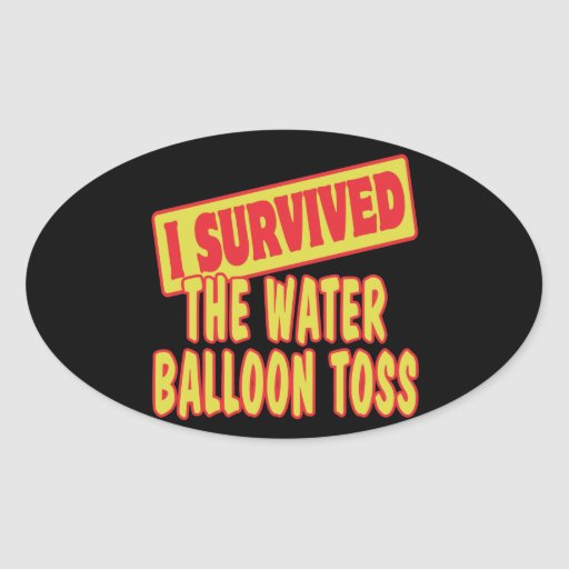 I SURVIVED THE WATER BALLOON TOSS STICKER