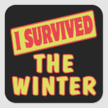 I SURVIVED THE WINTER STICKER