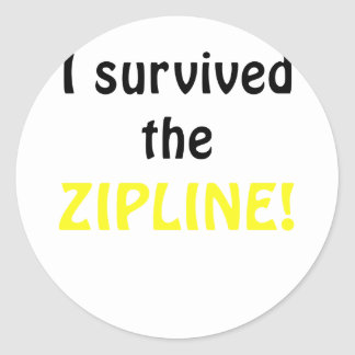 I Survived the Zipline Round Sticker