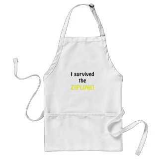 I Survived the Zipline Standard Apron