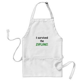 I Survived the Zipline Standard Apron