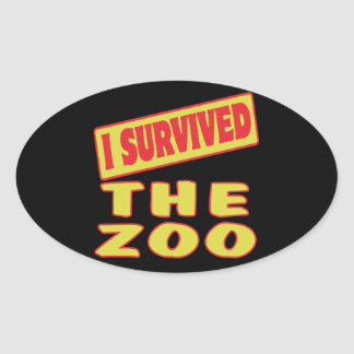 I SURVIVED THE ZOO OVAL STICKERS
