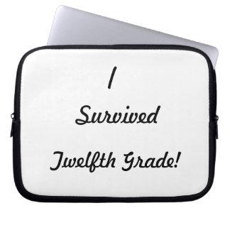 I survived Twelfth Grade Computer Sleeve