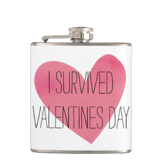 I survived valentines day flask