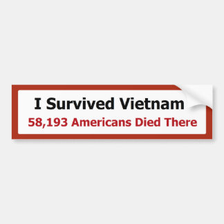 I SURVIVED VIETNAM BUMPER STICKER