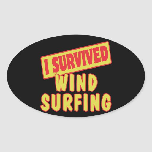 I SURVIVED WINDSURFING STICKERS