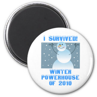 I Survived! Winter Powerhouse of 2010 6 Cm Round Magnet