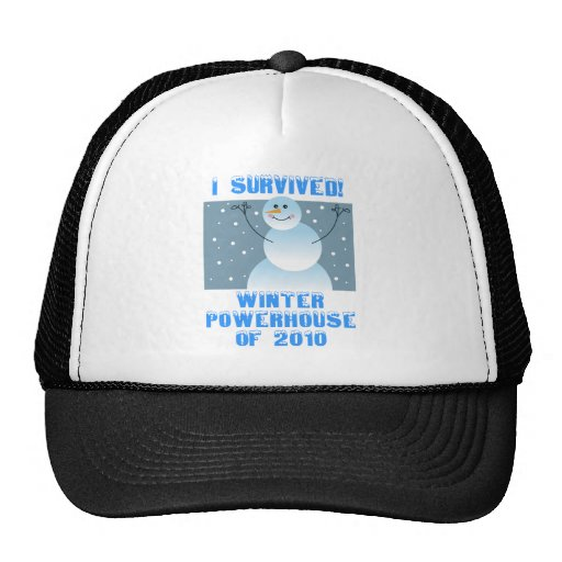 I Survived! Winter Powerhouse of 2010 Trucker Hats