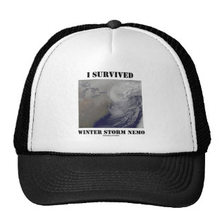 I Survived Winter Storm Nemo NASA Outer Space Mesh Hat