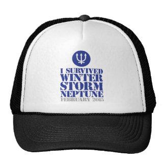 I Survived Winter Storm Neptune February 2015 Trucker Hats