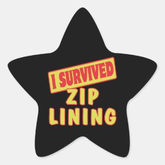 I SURVIVED ZIP LINING STAR STICKER