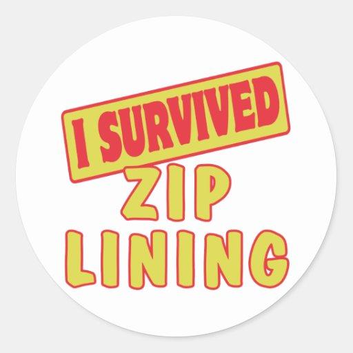 I SURVIVED ZIP LINING ROUND STICKER