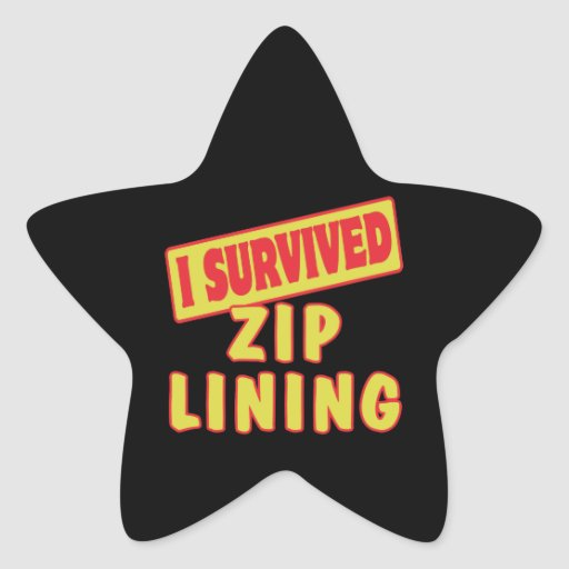 I SURVIVED ZIP LINING STAR STICKERS