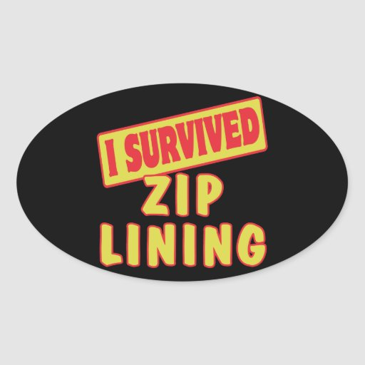 I SURVIVED ZIP LINING OVAL STICKER