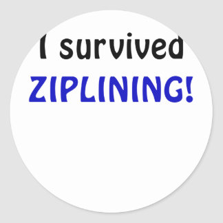 I Survived Ziplining Round Sticker