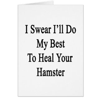 I Swear I'll Do My Best To Heal Your Hamster Note Card