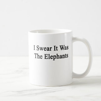 I Swear It Was The Elephants Basic White Mug