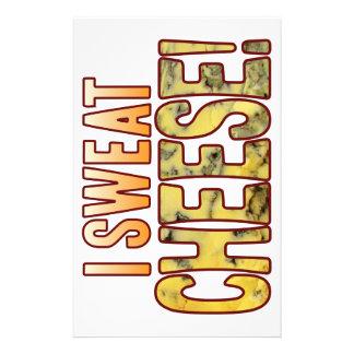 I Sweat Blue Cheese Customized Stationery
