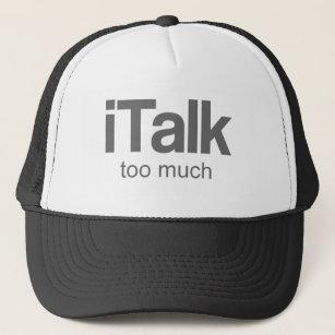f963d661186707 I Talk too much - Funny Design Trucker Hat